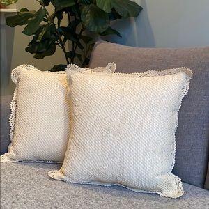 Martha Stewart ivory throw pillows